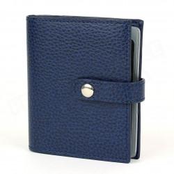 Porte 24 cartes cuir Bleu-marine Beaubourg