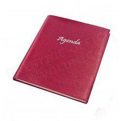 Agenda 21x27 cuir Rose-fuchsia Beaubourg