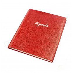 Agenda 21x27 cuir Rouge Beaubourg