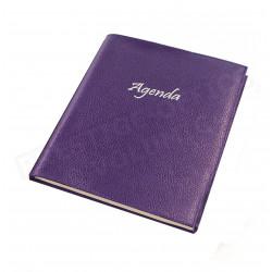 Agenda 21x27 cuir Violet Beaubourg