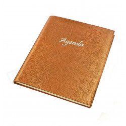 Agenda 17x24 cuir Gold Beaubourg