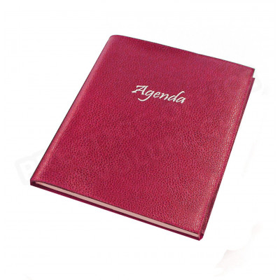 Agenda 17x24 cuir Rose-fuchsia Beaubourg