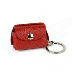 Bloc-notes porte clés cuir Rouge Beaubourg