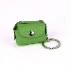 Bloc-notes porte clés cuir Vert-anis Beaubourg