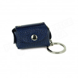 Bloc-notes porte clés cuir Bleu-marine Beaubourg