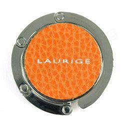 Accroche sac cuir Orange Beaubourg
