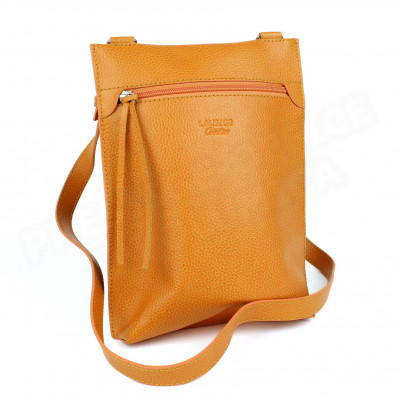 Besace petit modèle cuir Orange Beaubourg