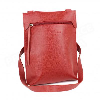 Besace petit modèle cuir Rouge Beaubourg