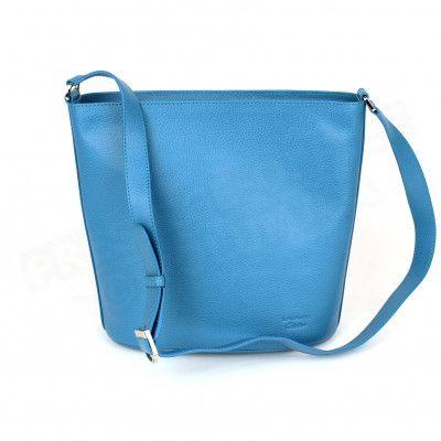 Sac épaule Biarritz cuir Bleu-turquoise Beaubourg