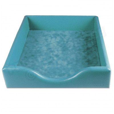 Boîte à courrier cuir Bleu-turquoise Beaubourg