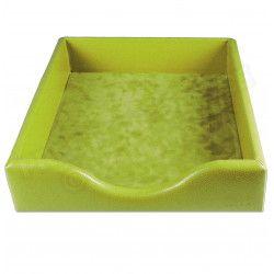 Boîte à courrier cuir Vert-anis Beaubourg