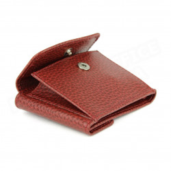 Porte-monnaie billets et cartes cuir Rouge-bordeaux Beaubourg