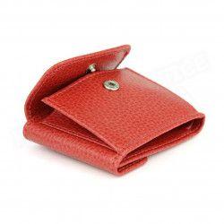 Porte-monnaie billets et cartes cuir Rouge Beaubourg