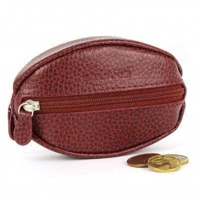 Porte-monnaie Grain de Café cuir rouge-bordeaux Beaubourg