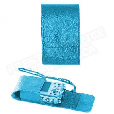Etui appareil photo cuir Bleu-turquoise Beaubourg