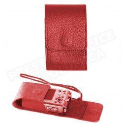 Etui appareil photo cuir Rouge Beaubourg