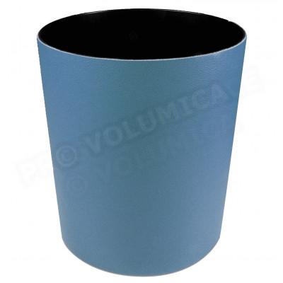 Corbeille à papier cuir Bleu-turquoise Beaubourg