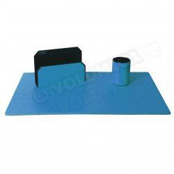 Parure de bureau Classic cuir Bleu-turquoise Beaubourg