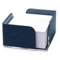 Bloc-note cube cuir Bleu-marine Beaubourg