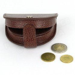 Porte-monnaie Cuvette cuir Marron Beaubourg