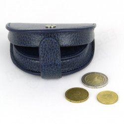 Porte-monnaie Cuvette cuir Bleu-marine Beaubourg