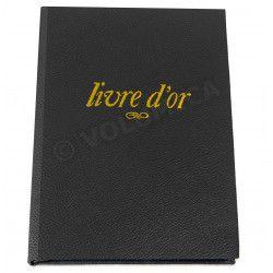 Livre d'Or A4 cuir Noir Beaubourg