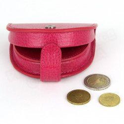 Porte-monnaie Cuvette cuir Rose-fuchsia Beaubourg