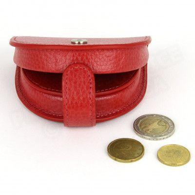 Porte-monnaie Cuvette cuir Rouge Beaubourg