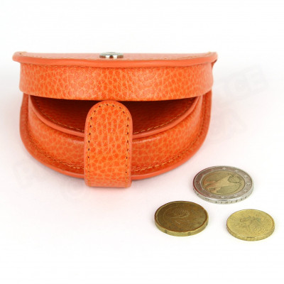 Porte-monnaie Cuvette cuir Orange Beaubourg