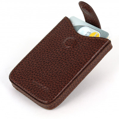 Porte cartes de visite cuir Marron Beaubourg