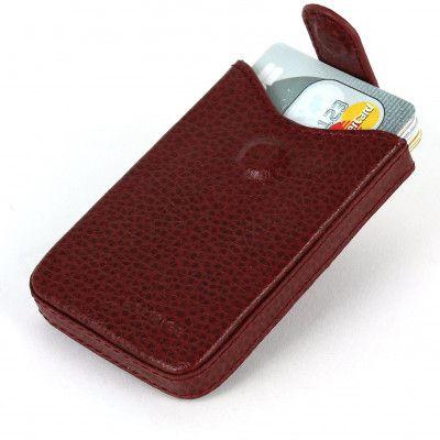 Porte cartes de visite cuir Rouge-bordeaux Beaubourg