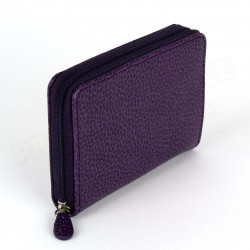 Porte-monnaie Frenchy cuir Violet Beaubourg