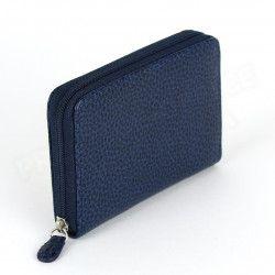 Porte-monnaie Frenchy cuir Bleu-marine Beaubourg