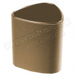Pot à crayons triangulaire cuir Marron Beaubourg