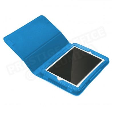 Etui pour mini Ipad cuir Bleu-turquoise Beaubourg