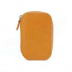 Trousse manucure cuir Orange Beaubourg