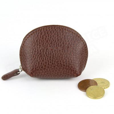 Mini porte-monnaie cuir Marron Beaubourg