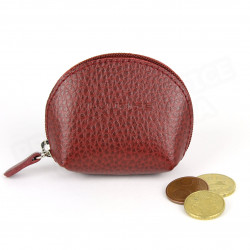 Mini porte-monnaie cuir Rouge-bordeaux Beaubourg