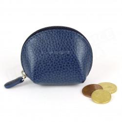 Mini porte-monnaie cuir Bleu-marine Beaubourg