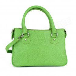 Mini sac Cabas Monaco cuir Vert anis Beaubourg