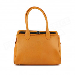 Sac Cabas Shopping Nathalie cuir Orange Beaubourg