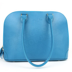 Sac à main New-york cuir Bleu turquoise Beaubourg