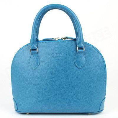 Mini sac à main New-york cuir Bleu-turquoise Beaubourg