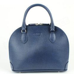 Mini sac à main New-york cuir Bleu marine Beaubourg