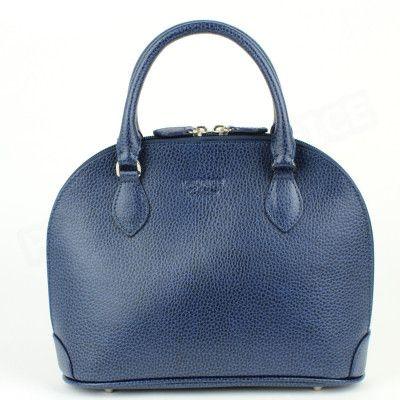 Mini sac à main New-york cuir Bleu-marine Beaubourg