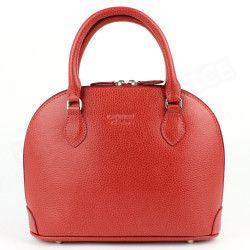 Mini sac à main New-york cuir Rouge Beaubourg