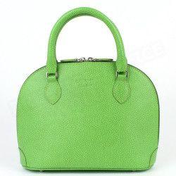 Mini sac à main New-york cuir Vert anis Beaubourg