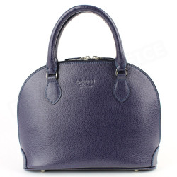 Mini sac à main New-york cuir Violet Beaubourg