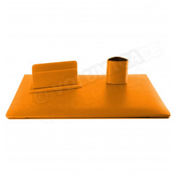 Parure de bureau Jazz cuir Orange Beaubourg