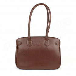 Sac Cabas Shopping Paris cuir Marron Beaubourg